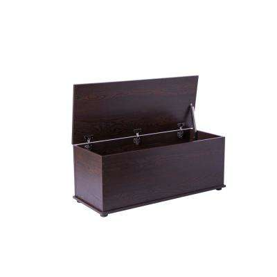 42 Gal. Wooden Storage Organizing Toy Box in Brown