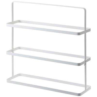 Tower 9 pair white Shoe Rack Wide steel