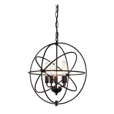 Vienna 5-Light Dark Bronze Pendant Lamp