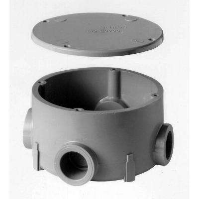 1/2 in. Type-X Round Conduit Body with Cover (Case of 5)