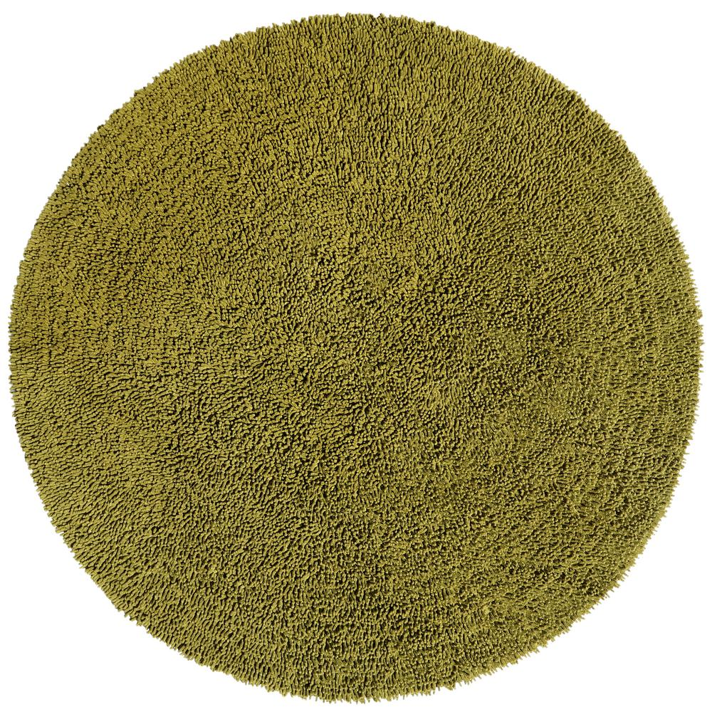 Moss Chenille Twist 3 Ft X Round Accent Rug