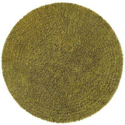 Moss Shag Chenille Twist  5 ft. x 5 ft. Round Area Rug