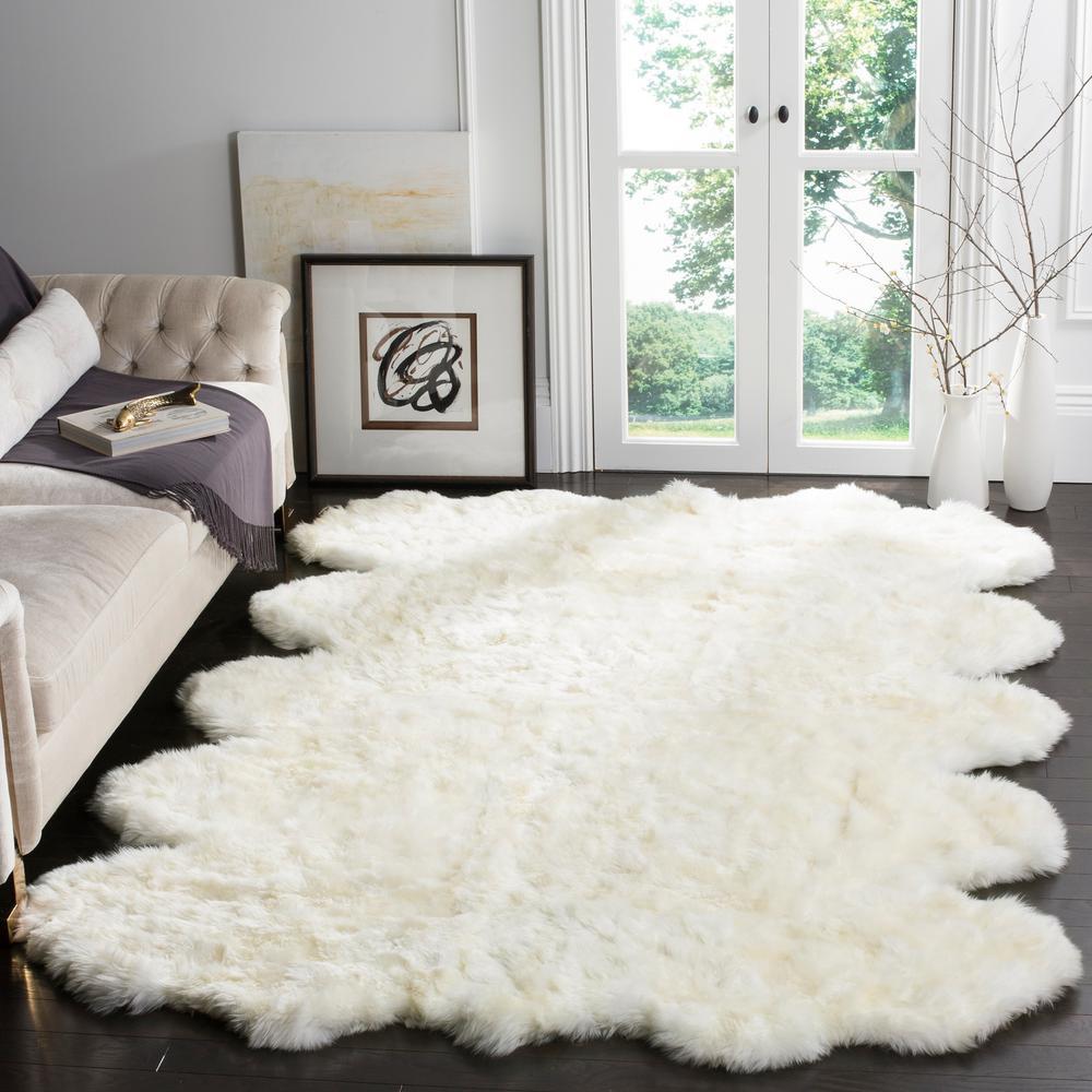 Sheep Skin White 8 ft. x 10 ft. Area Rug
