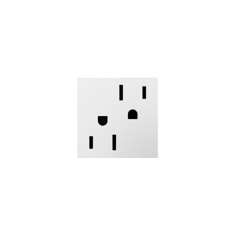 15 Amp 2-Module Safety Zone T Amper-Resistant Duplex Outlet, White