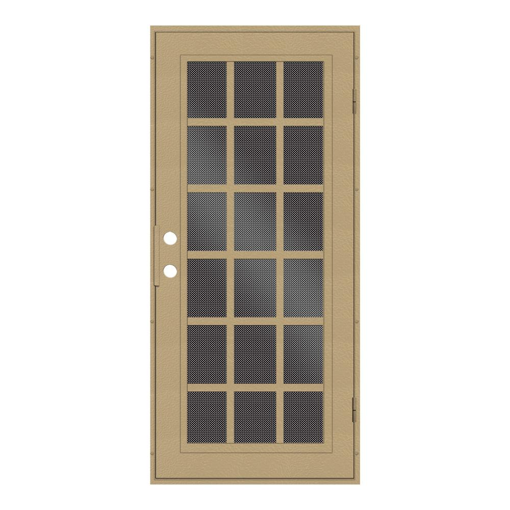 perforated metal screen door. unique home designs 36 in. x 80 classic french desert sand right- perforated metal screen door e