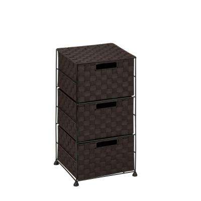 3-Drawer Espresso Polypropylene Chest