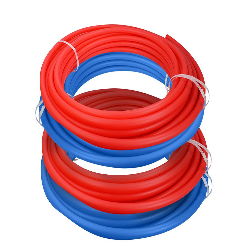The Plumber's Choice 1/2 in. x 100 ft. and 3/4 in. x 100 ft. PEX Tubing Potable Water Pipe in 2 Red 2 Blue
