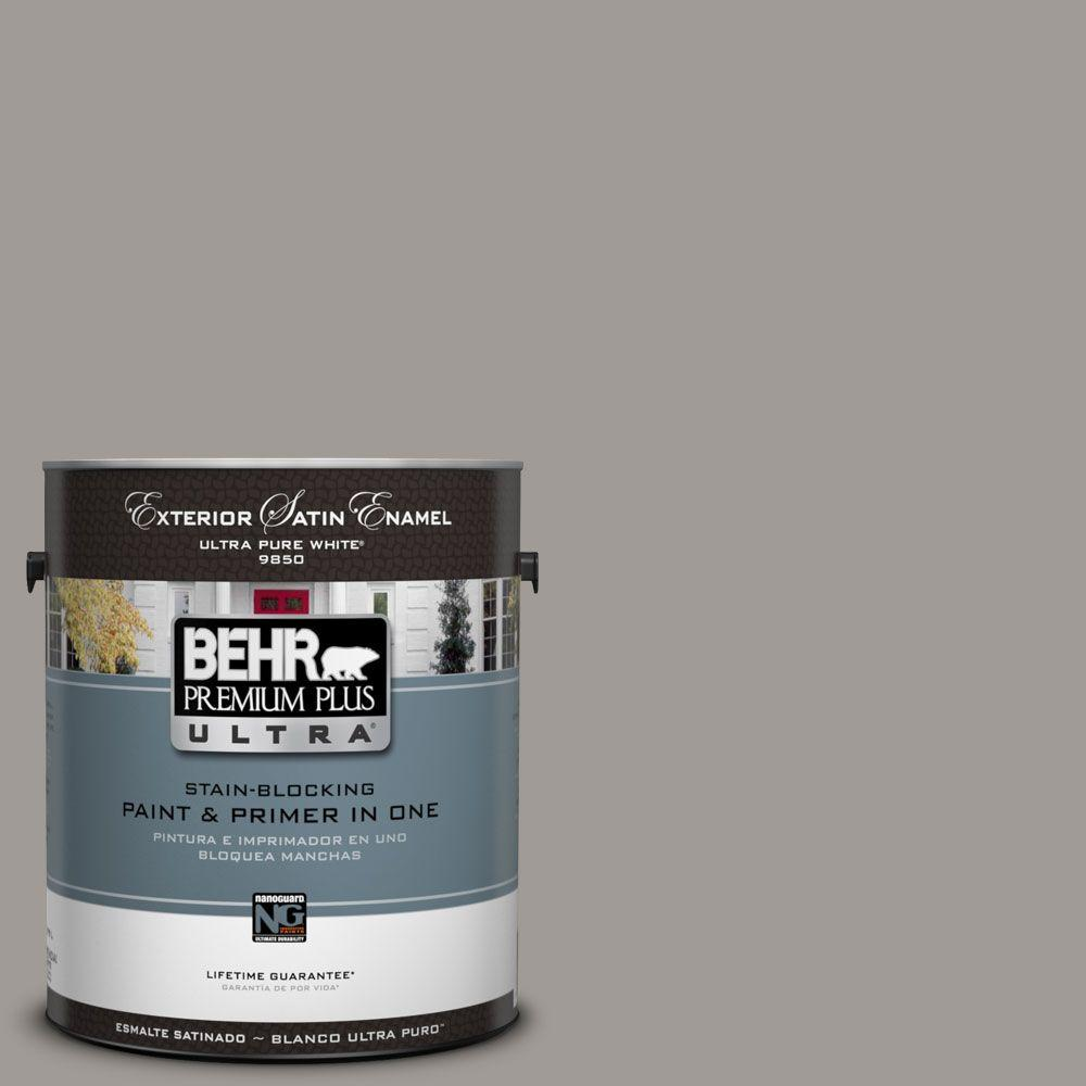 BEHR Premium Plus Ultra 1-Gal. #UL260-6 Fashion Gray Satin Enamel ...