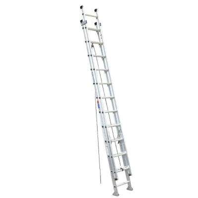 24 ft. Aluminum D-Rung Extension Ladder with 300 lb. Load Capacity Type IA Duty Rating