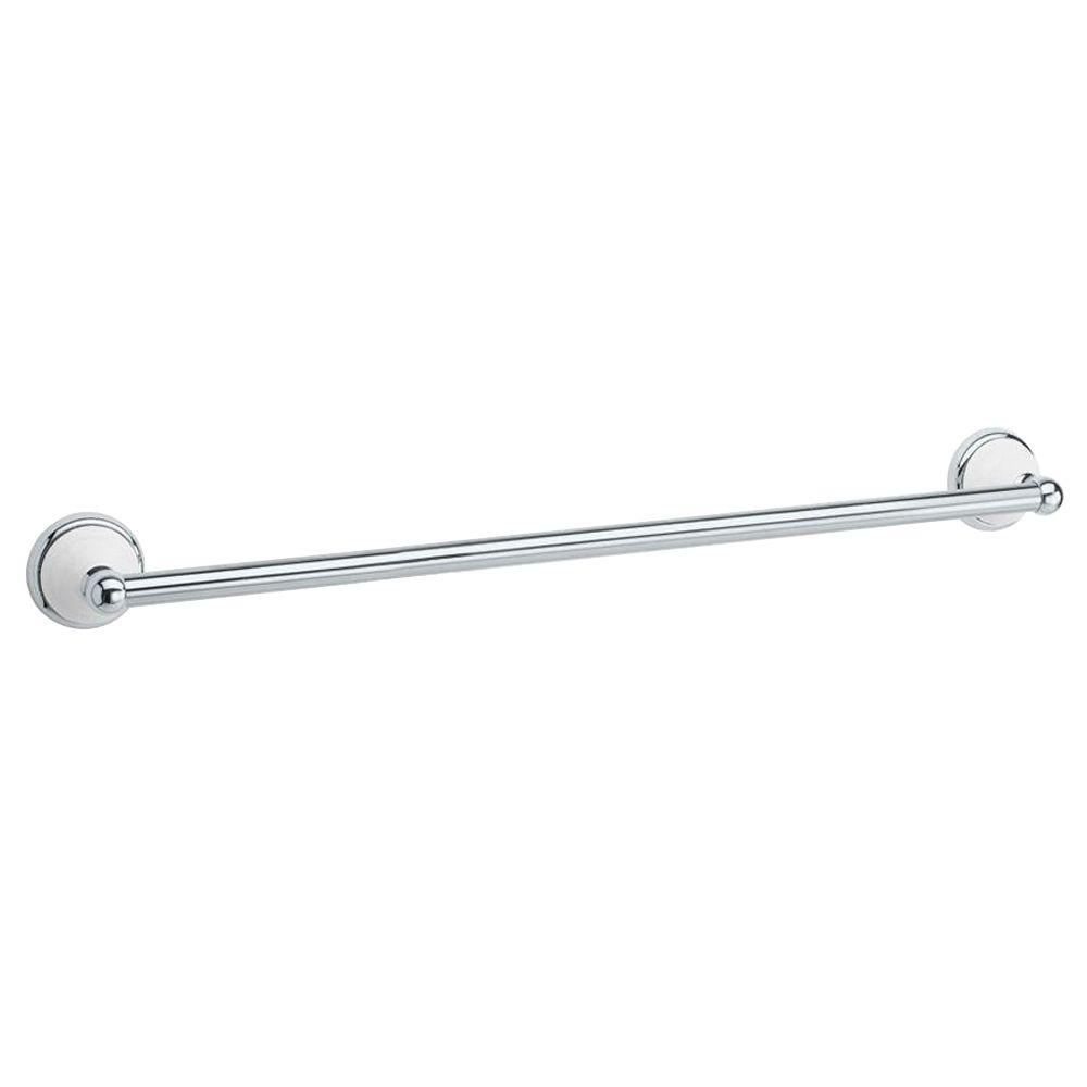 Gatco Franciscan 18 in. Towel Bar in Polished Chrome and Porcelain