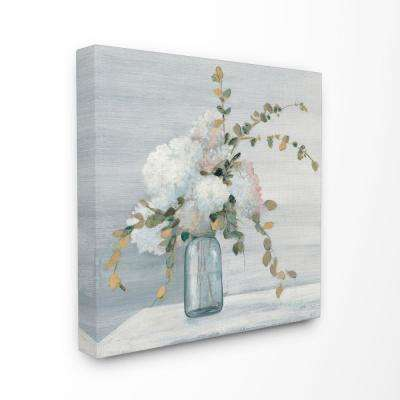Stupell Industries 30 In X 30 In Beautiful Jar Flowers Blue Grey Painting By Julia Purinton Canvas Wall Art Fap 130 Cn 30x30 The Home Depot