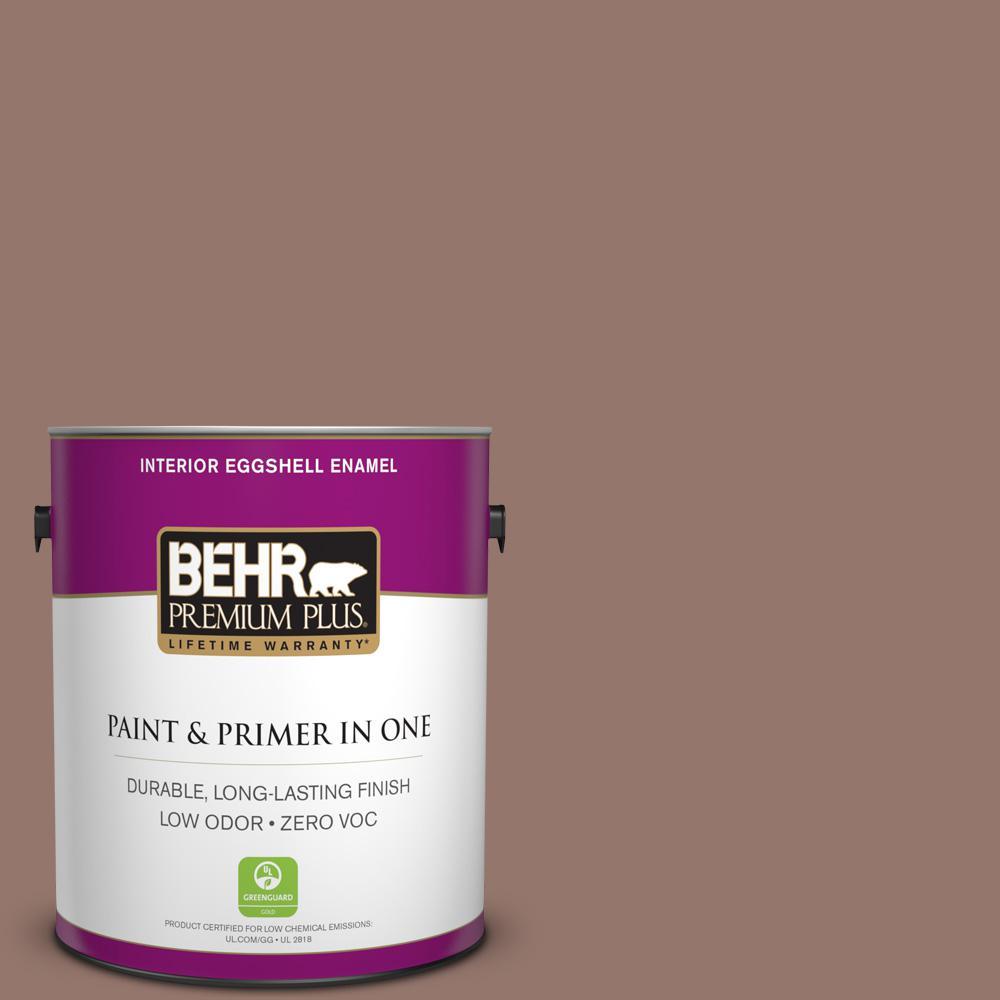 BEHR Premium Plus 1-gal. #N160-5 Chocolate Delight Eggshell Enamel Interior Paint