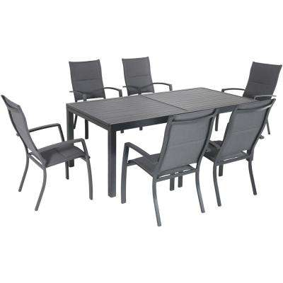 gray dining table driftwood naples extendable aluminum patio dining sets furniture
