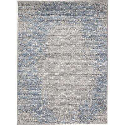 Madiba Blue, Grey 5 ft. x 7 ft. Area Rug
