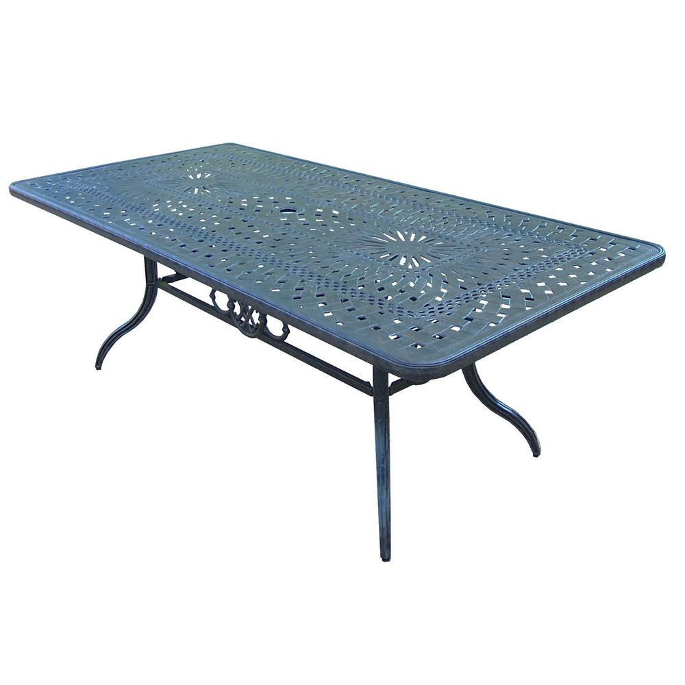 Belmont 84 in. x 42 in. Aluminum Rectangular Patio Dining Table