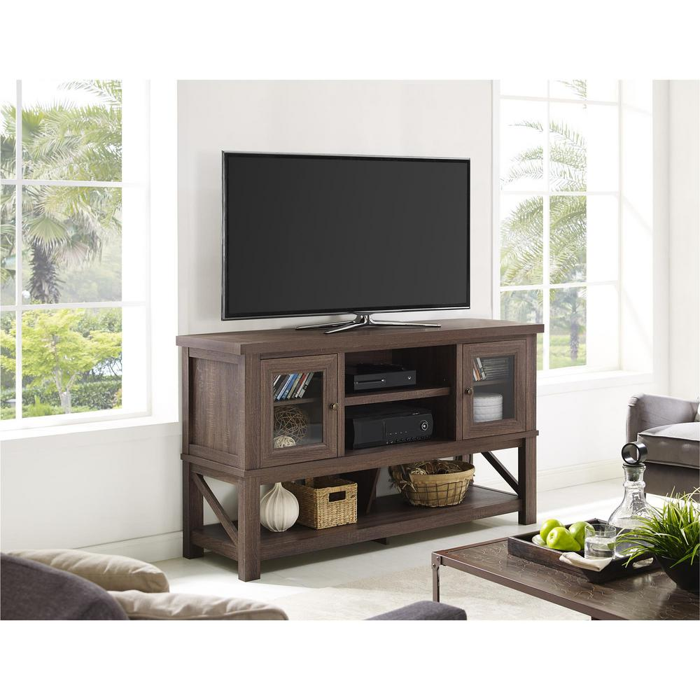 entertainment center with glass doors flat screen tv altra furniture everett medium oak entertainment center center1785196com