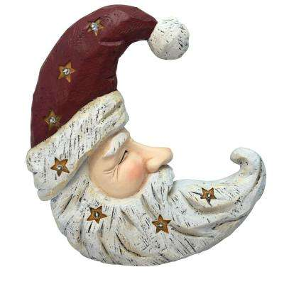Christmas Santa Moon Face Light Up Statue Decor- TM