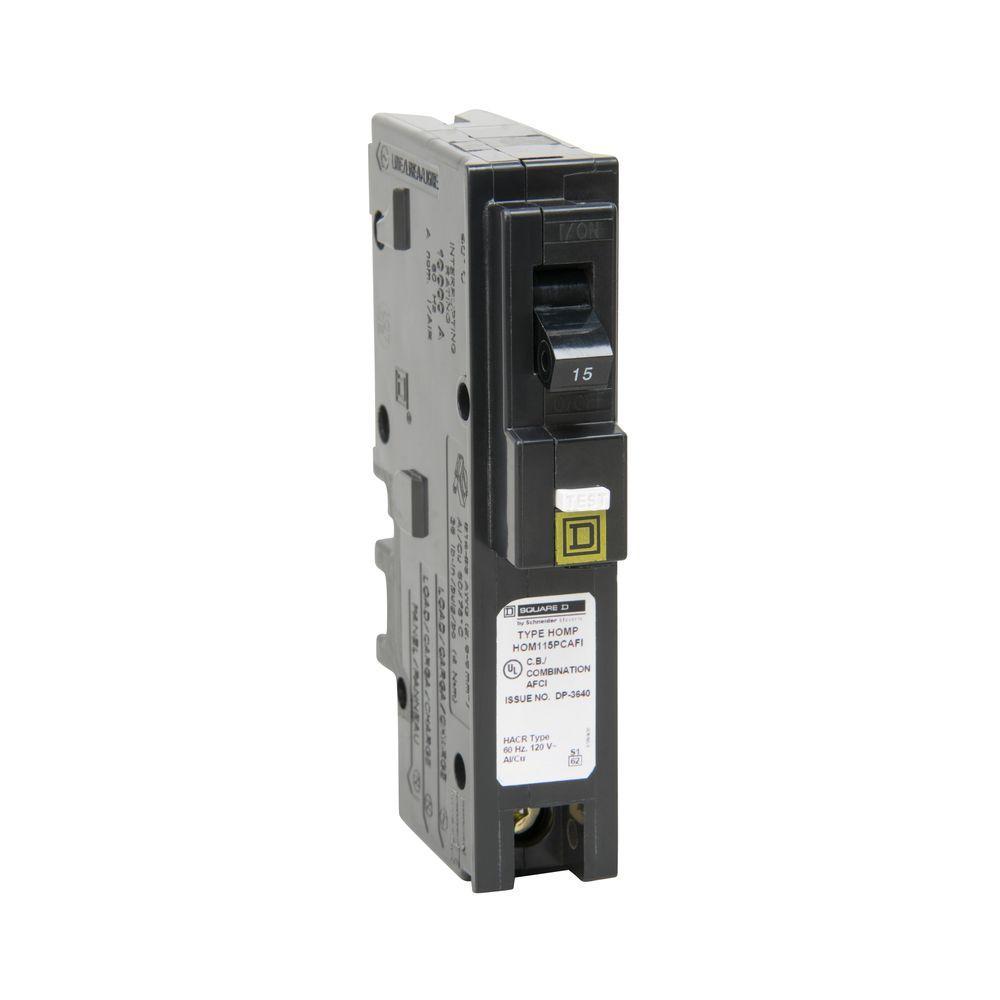 Homeline 15 Amp Single-Pole Plug-On Neutral Combination Arc Fault Circuit