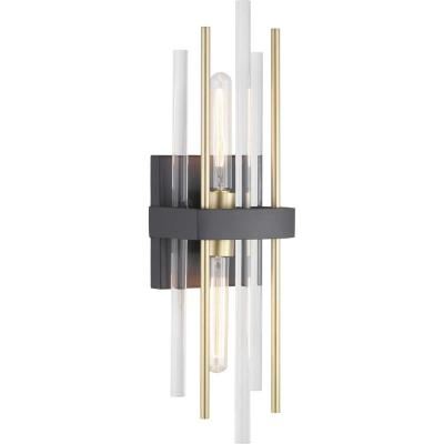 Orrizo Collection 2-Light Black Wall Sconce