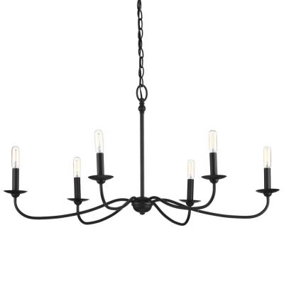 Pacolet 6-Light Textured Black Chandelier