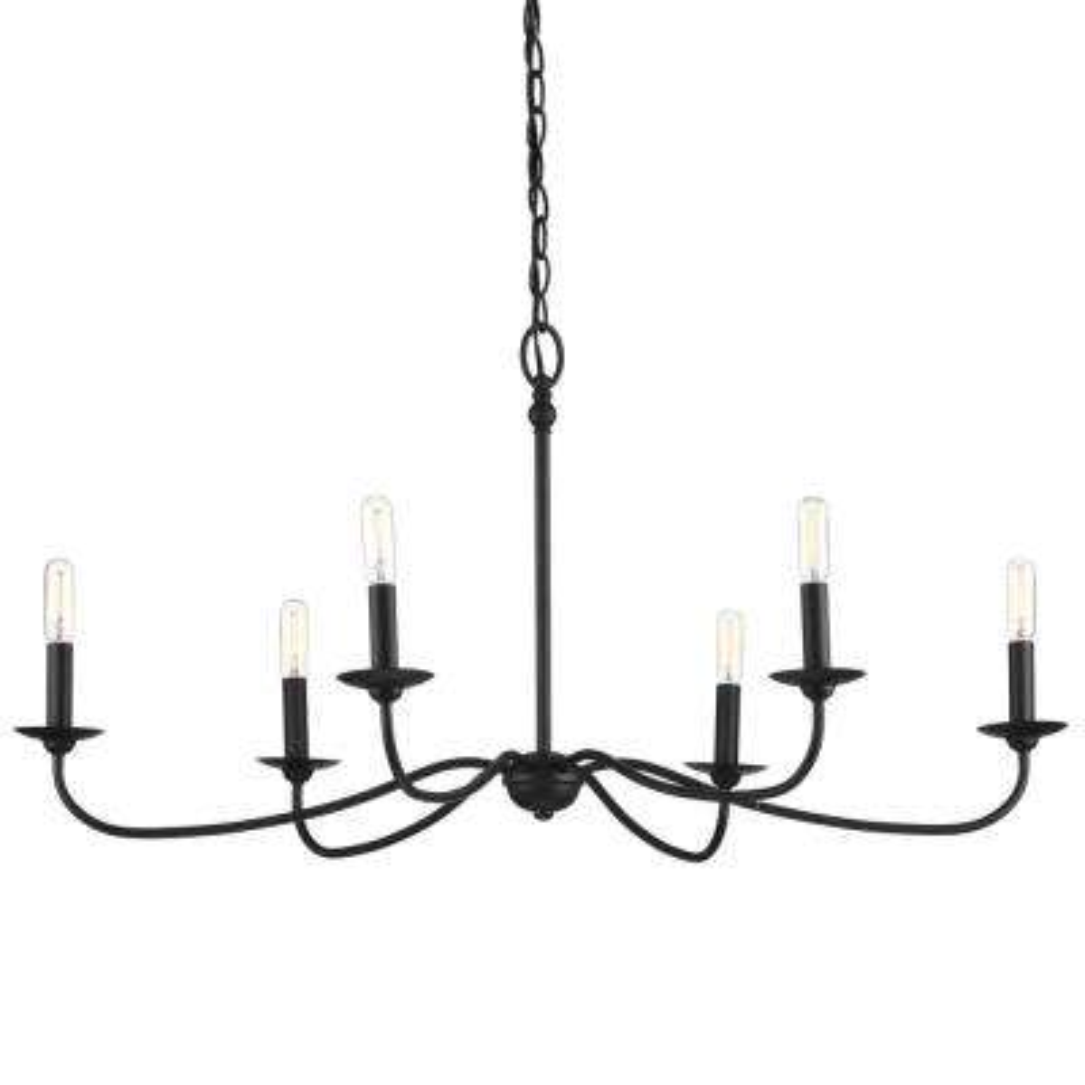 Pacolet 6-Light Textured Black Chandelier