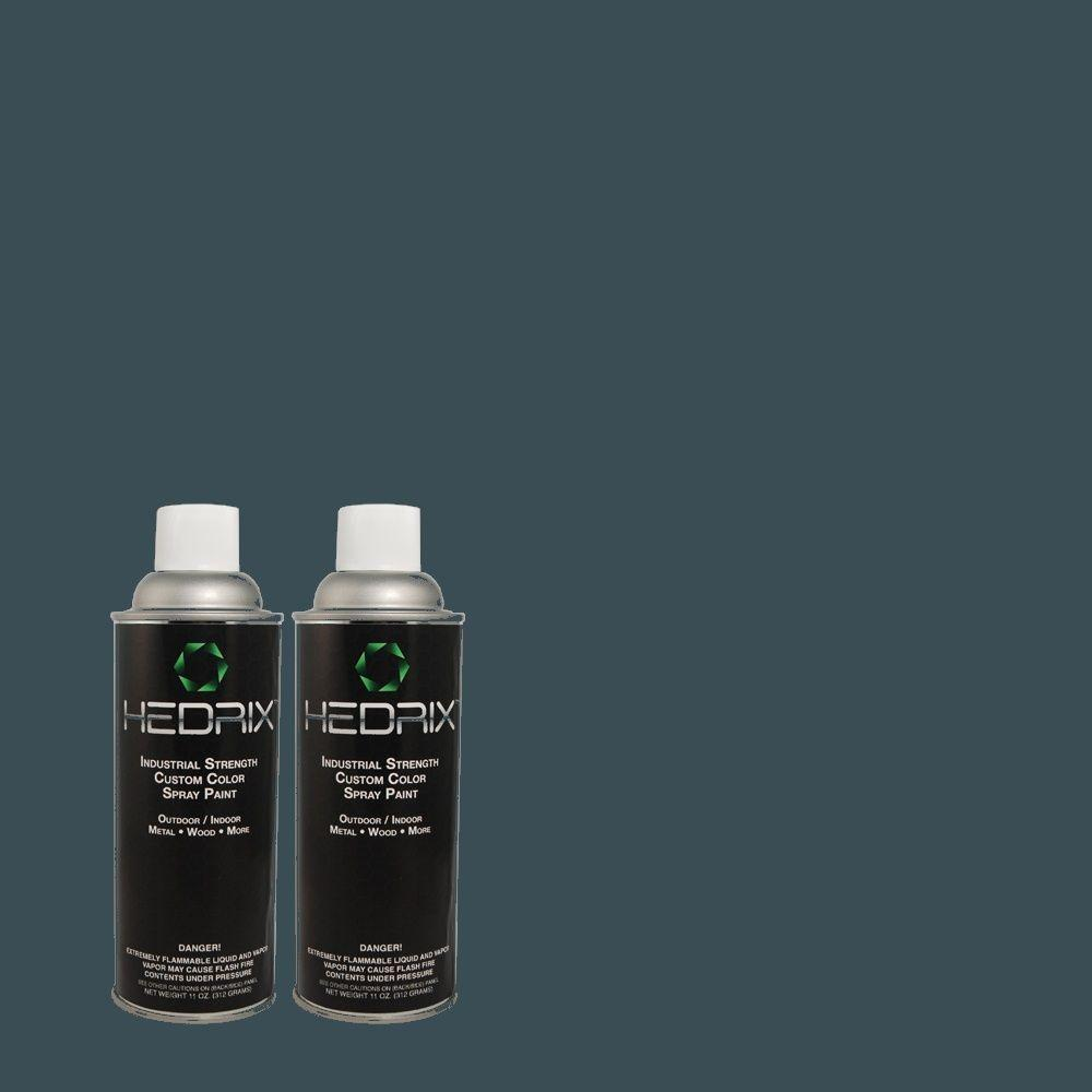 Hedrix 11 oz. Match of 570D-7 Nocturnal Sea Gloss Custom Spray Paint (2-Pack)
