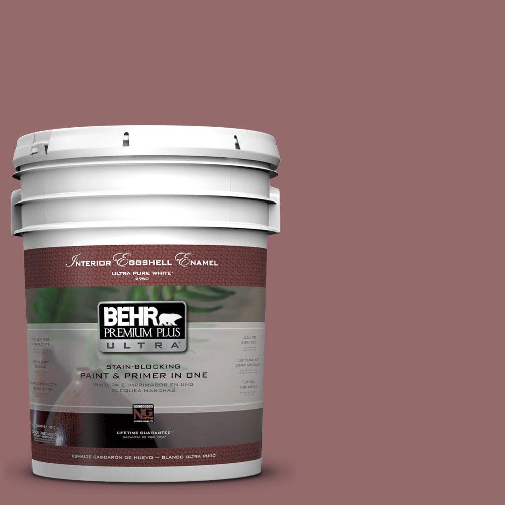 Behr Premium Plus Ultra 5 Gal 140f 5 Clay Ridge Eggshell Enamel Interior Paint And Primer In