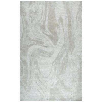 Fifth Avenue Gray 8 ft. x 10 ft. Abstract Area Rug