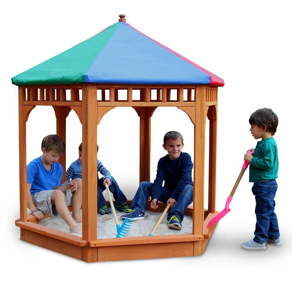 Gorilla Playsets 5-1/2 ft. x 5-1/2 ft. Play-Zee-Bo with Covered Sandbox