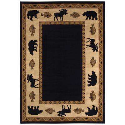 Cottage Grove Ebony 5 ft. 3 in. x 7 ft. 6 in. Area Rug