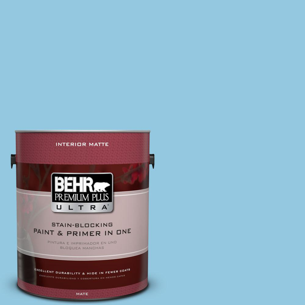 BEHR Premium Plus Ultra 1 gal. #550D-4 Caribbean Coast Flat/Matte Interior Paint
