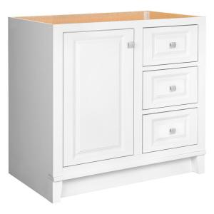 Glacier Bay Kinghurst 36 inch W x 21 inch D x 33.5 inch H Bath Vanity Cabinet Only in White by Glacier Bay