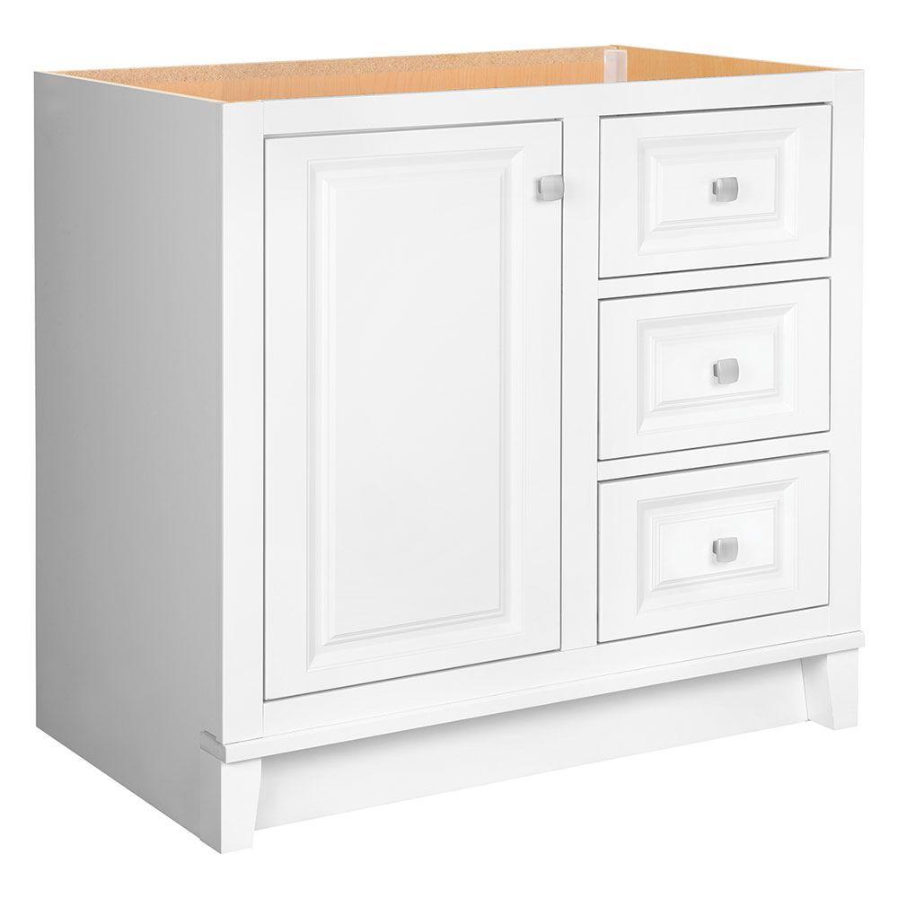 Kinghurst 36 in. W x 21 in. D x 33.5 in. H Bath Vanity Cabinet Only in White