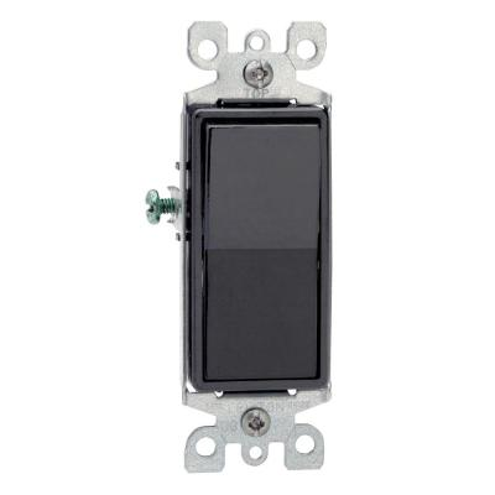 Decora 15 Amp 3-Way Switch, Black