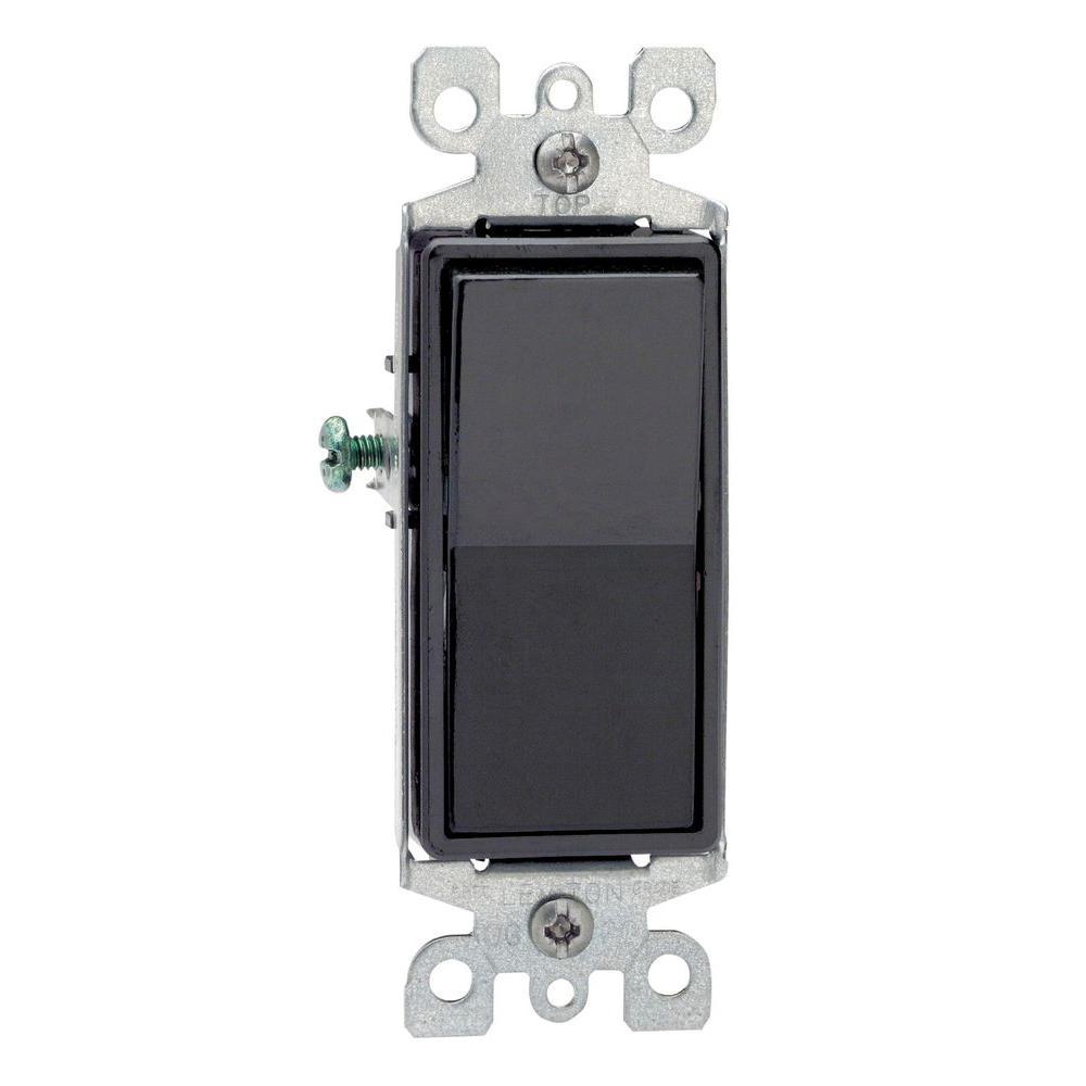 Leviton Decora 15 Amp 3-Way Switch, Black (10-Pack) by Leviton