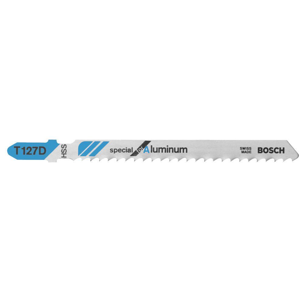 Bosch 4 in. 8 Teeth per in. HSS T-Shank Jigsaw Blade (100...