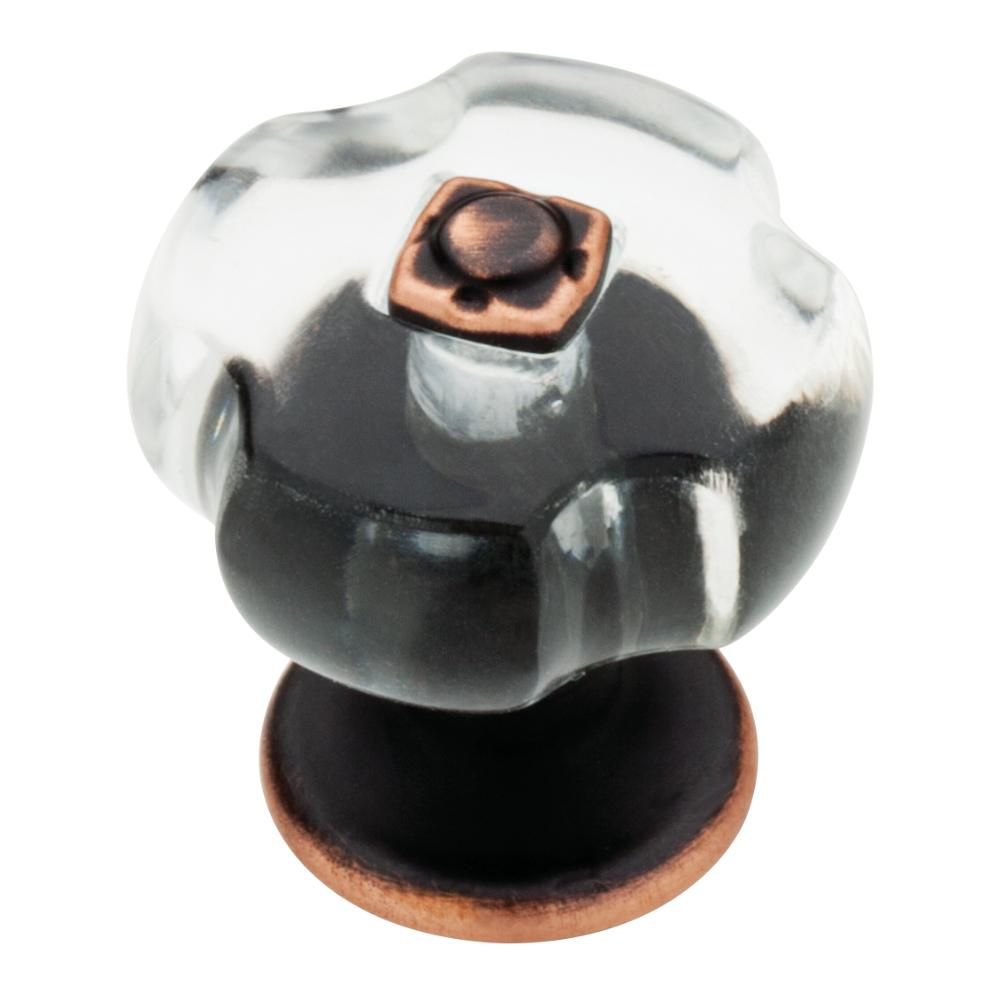 26bb4ac7a7b1 (32mm) Oil Rubbed Bronze and Clear Scalloped Acrylic Cabinet Knob