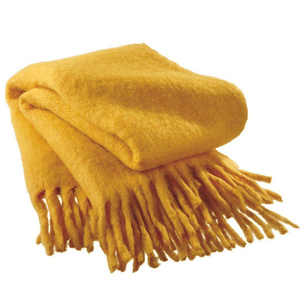 Sundry Yellow Wool Throw
