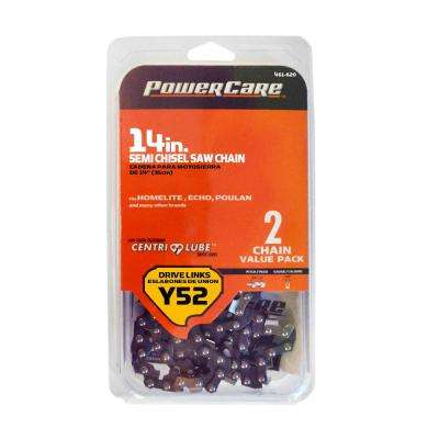 Y52 14 in. Chainsaw Chain (2-Pack)