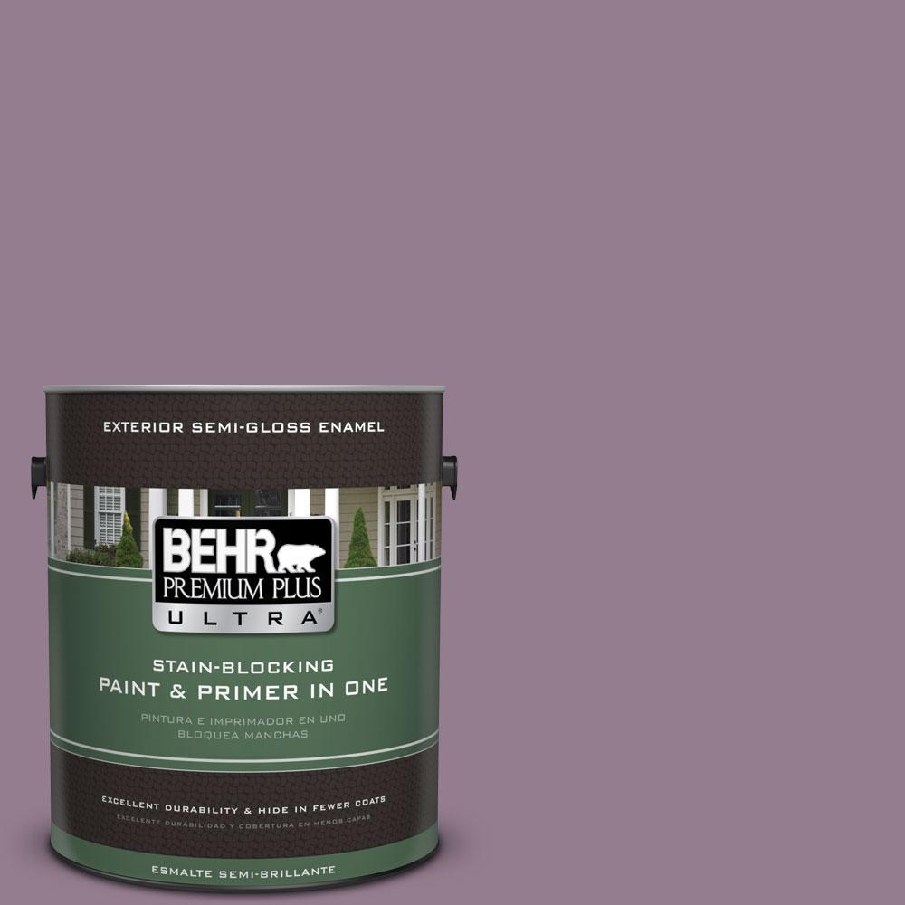 BEHR Premium Plus Ultra 1-gal. #680F-5 Plum Swirl Semi-Gloss Enamel Exterior Paint