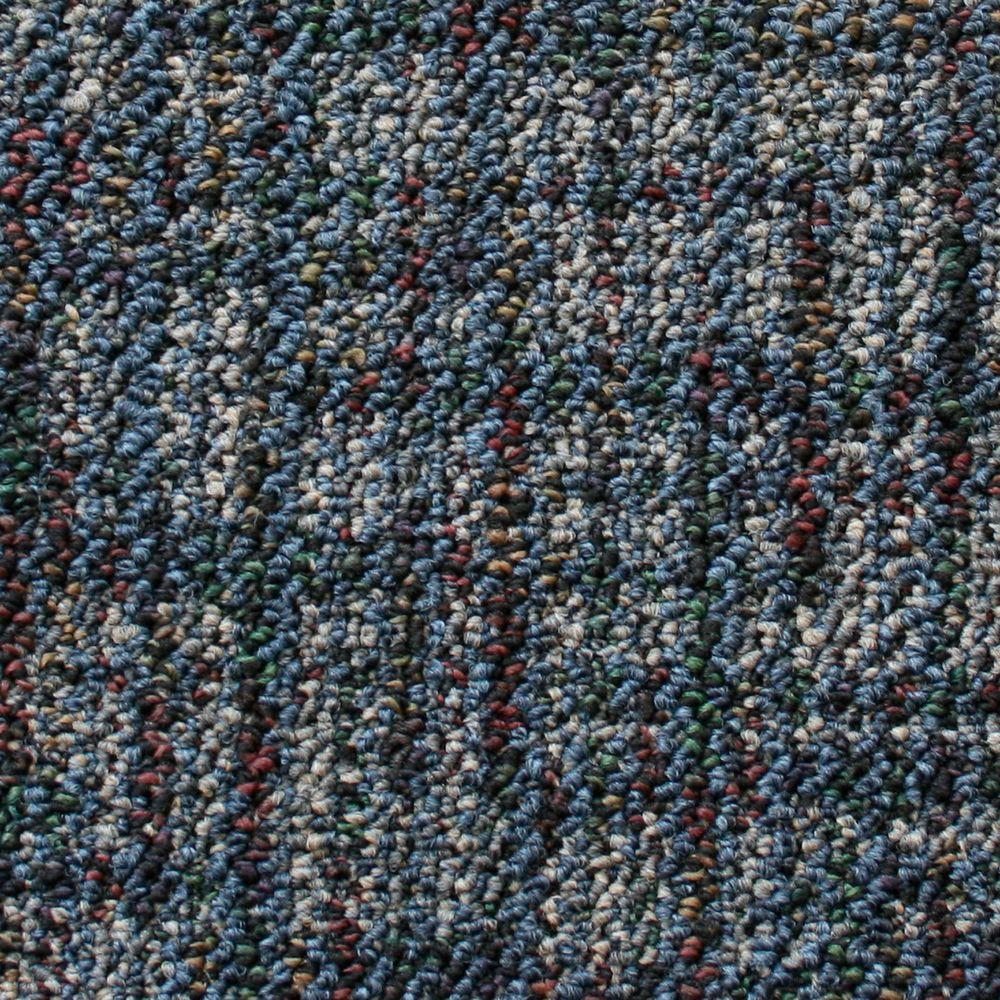 TrafficMASTER Business Case - Color Ocean Patterned Scroll Loop 12 ft. Carpet