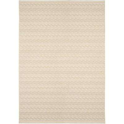 Twisted Sand Ivory 7 ft. 7 in. x 10 ft. 10 in. Indoor/Outdoor Area Rug