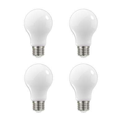 60-Watt Equivalent A19 Dimmable Energy Star Frosted Filament LED Light Bulb Daylight (4-Pack)