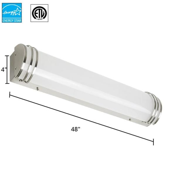 Sunlite 48 In Led Wall Mounted Bath Vanity Light Bar Led Fixture With Frosted Lens In Cool White 4000k Hd02322 1 The Home Depot