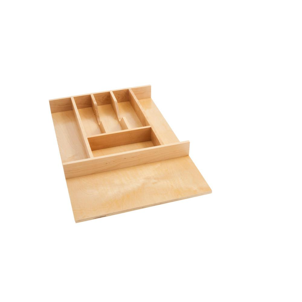 Rev A Shelf 2 38 In H X 14 62 In W X 22 In D Small Wood Cutlery