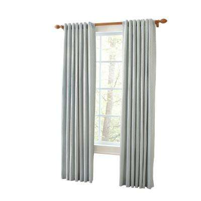 Semi-Opaque Faded Ink Marrakesh Screen Back Tab Curtain