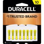 Size 10 Zinc Hearing Aid Battery (8-Pack)