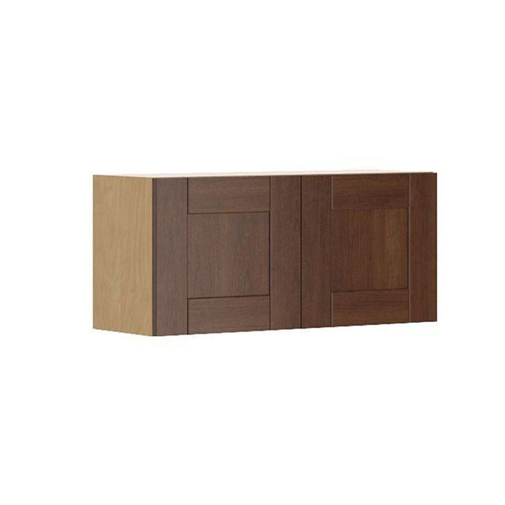 Ready to Assemble 33x15x12.5 in. Lyon Wall Bridge Cabinet in Maple