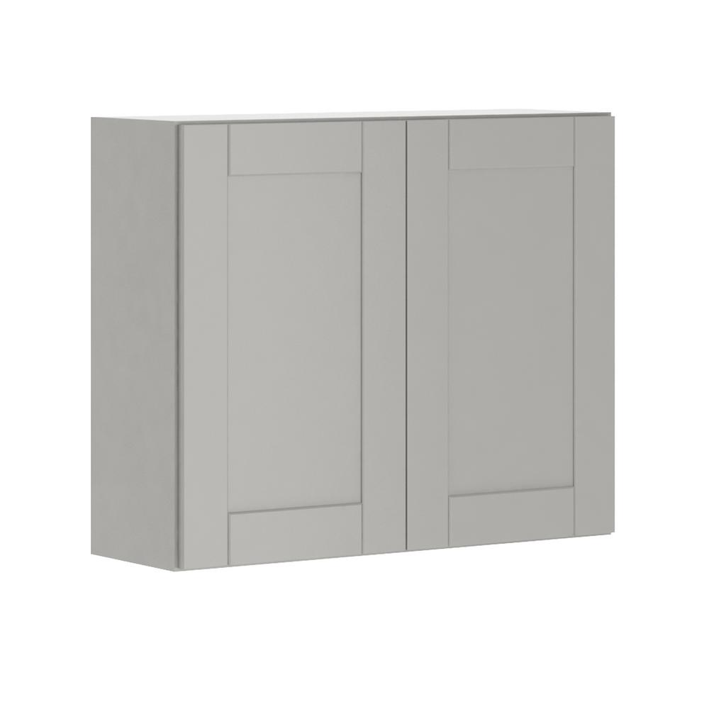 Hampton Bay Princeton Shaker Assembled 36x30x12 in. Wall Cabinet ...