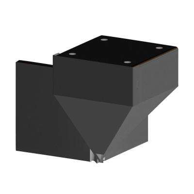 Black Corner Fascia Mount Bracket